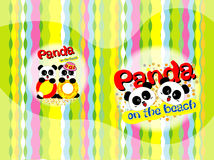 Panda auf dem Strand lizenzfreie abbildung