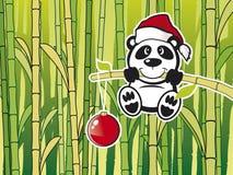 Panda avec le babmboo Photos libres de droits