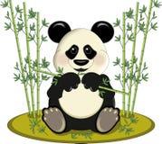 Panda avec le bambou illustration de vecteur