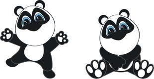 Panda baby cartoon. In vector format very easy to edit royalty free illustration
