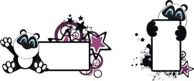 Panda baby cartoon copyspace2. Panda baby cartoon copyspace in vector format royalty free illustration