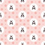 Panda Baby Configuration Illustration sans joint de vecteur plat Illustration Stock