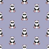 Panda Baby Configuration Illustration sans joint de vecteur plat Illustration de Vecteur
