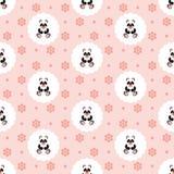 Panda Baby Teste padrão Ilustração sem emenda do vetor liso ilustração stock