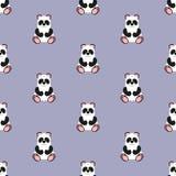 Panda Baby Teste padrão Ilustração sem emenda do vetor liso ilustração do vetor