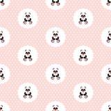 Panda Baby Teste padrão Vetor sem emenda liso ilustração do vetor