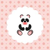 Panda Baby Vecteur plat illustration de vecteur