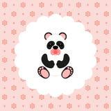 Panda Baby vektor plant Royaltyfri Bild
