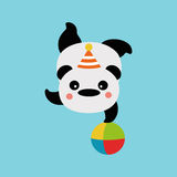 Panda on the ball Royalty Free Stock Photo