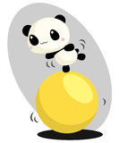 Panda and Ball Royalty Free Stock Photography