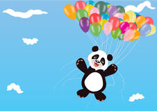 Panda Balloon illustration stock