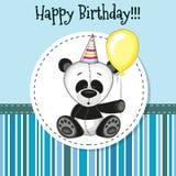 Panda with balloon Stock Photos