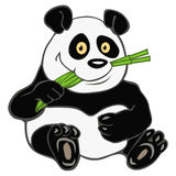 Panda bamboo Royalty Free Stock Photo