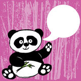 Panda with bamboo branch Stock Photo