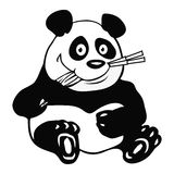 Panda bamboo outline Stock Image