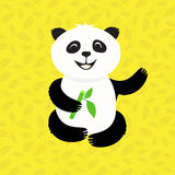 Panda in the bamboo Royalty Free Stock Image