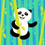 Panda in the bamboo Stock Photo