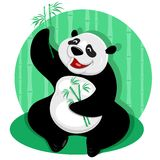 Panda with bamboo Royalty Free Stock Image