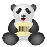 Panda bar code Royalty Free Stock Photo