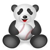 Panda baseball ball Royalty Free Stock Photo