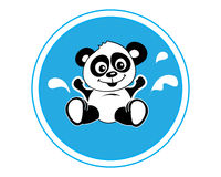 Panda bathing Royalty Free Stock Photo