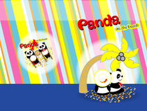 Panda on the beach 05 Royalty Free Stock Images