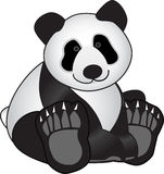 Panda Bear. Cute toy Panda bear sitting down Stock Image
