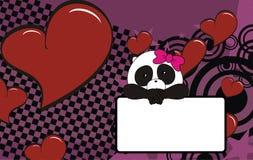 Panda bear baby cartoon background Stock Image