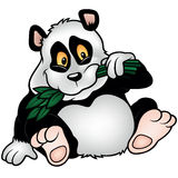 Panda Bear with Bamboo Branch Stock Photography