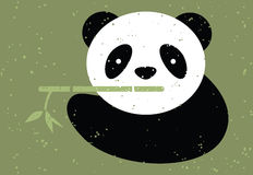 Panda bear and bamboo. Stock Image