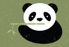 Panda bear and bamboo. Vector illustration Stock Image