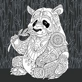 Panda bear in black and white style Royalty Free Stock Images