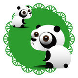 Panda bear cartoon Royalty Free Stock Photos