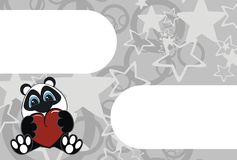Panda bear cartoon background. In format very easy to edit vector illustration