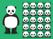 Panda Bear Cartoon Emotion fait face à l'illustration de vecteur illustration stock