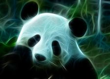 Panda bear with colors. On black background with colors ideal for posters, backgrounds and more royalty free illustration