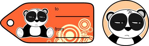 Panda bear cute cartoon gift card8 Royalty Free Stock Image
