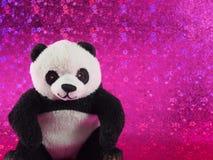 Panda Bear Doll avec se reposer et sourire un peu Photographie stock