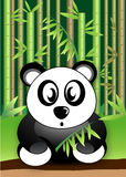 Panda Bear eating bamboo leaves wildlife vector Stock Photos