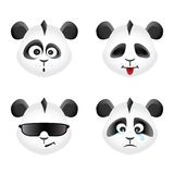 Panda bear emotion icons set Royalty Free Stock Image