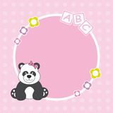 Panda bear framework Royalty Free Stock Photo