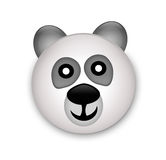 Panda bear head in 3d stock photography