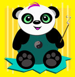 Panda Bear with Incense Royalty Free Stock Photo