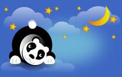 Panda bear on night sky Stock Photo