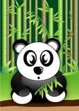 Panda Bear som äter bambu, lämnar djurlivvektorn Vektor Illustrationer