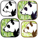 Panda Bear Symbol Illustration Libre de Droits