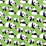 Panda bear vector background. Royalty Free Stock Image
