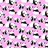 Panda bear vector background. Stock Photo