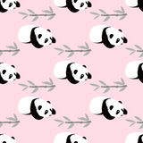 Panda bear vector background. Royalty Free Stock Photo
