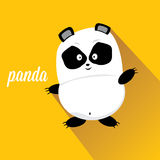 Panda bear vector illustration. flat style Royalty Free Stock Images